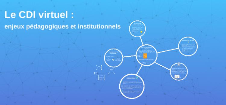 CDI virtuel : enjeux pédagogiques et institutionnels – Formation PAF du 24/04/2018