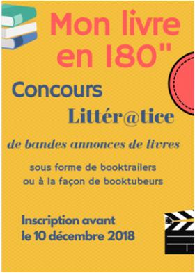 """Mon livre en 180"""" – concours Littér@tice"""