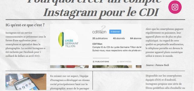 Utiliser le réseau social Instagram au CDI
