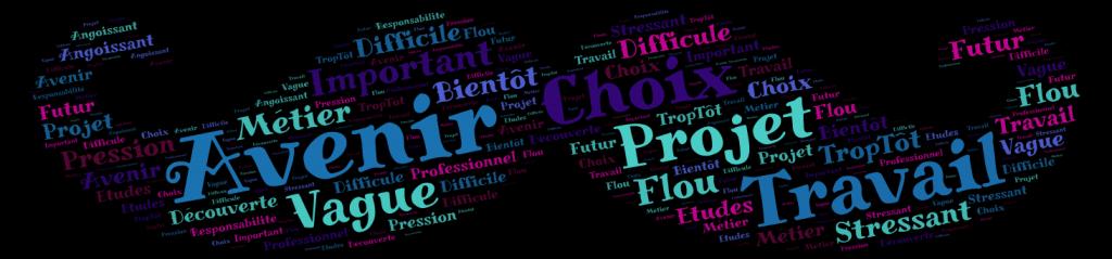 Nuages de mots-clés réalisés à partir de ceux donnés par les élèves